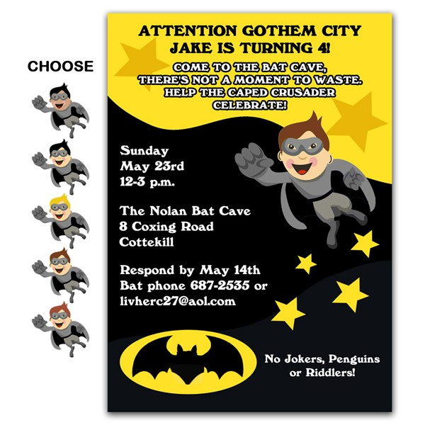 photograph about Printable Batman Invitations named Batman Influenced Invites