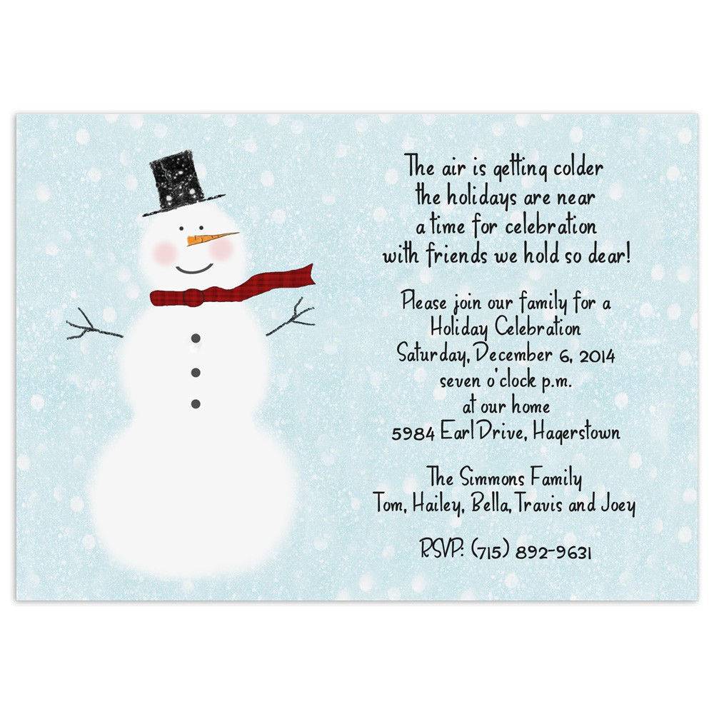 snowman invitations Baskanidaico