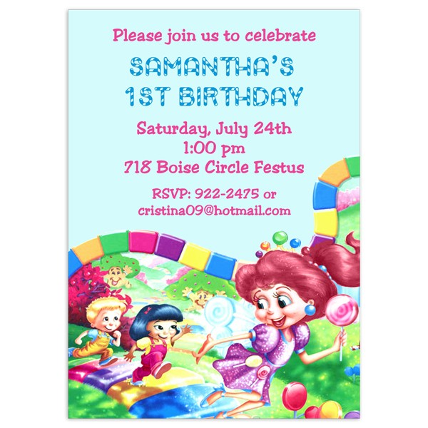 candyland invitations birthday party invitation printed party
