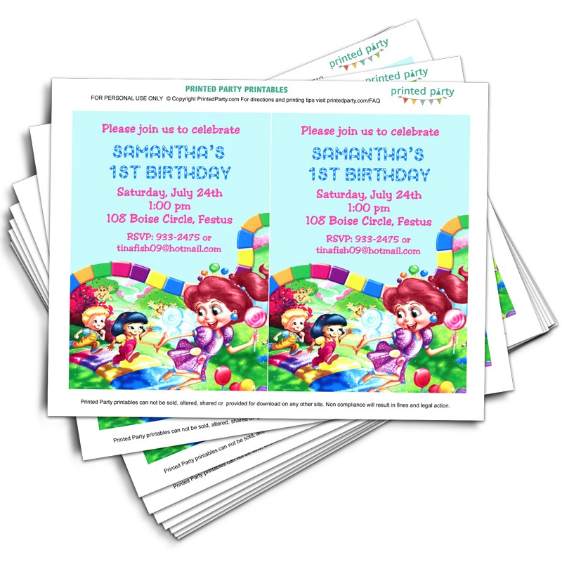 printable candyland invitation template printable candy land invitations