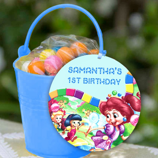 candyland tag party favor printed party