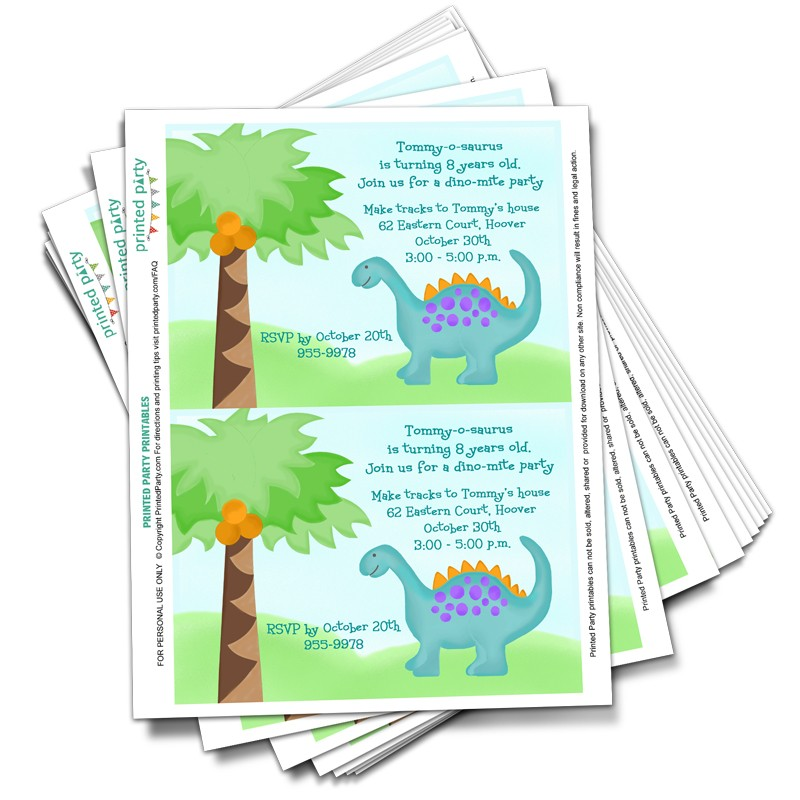 graphic relating to Printable Dinosaur Birthday Invitations named Printable Dinosaur Birthday Invitation Template