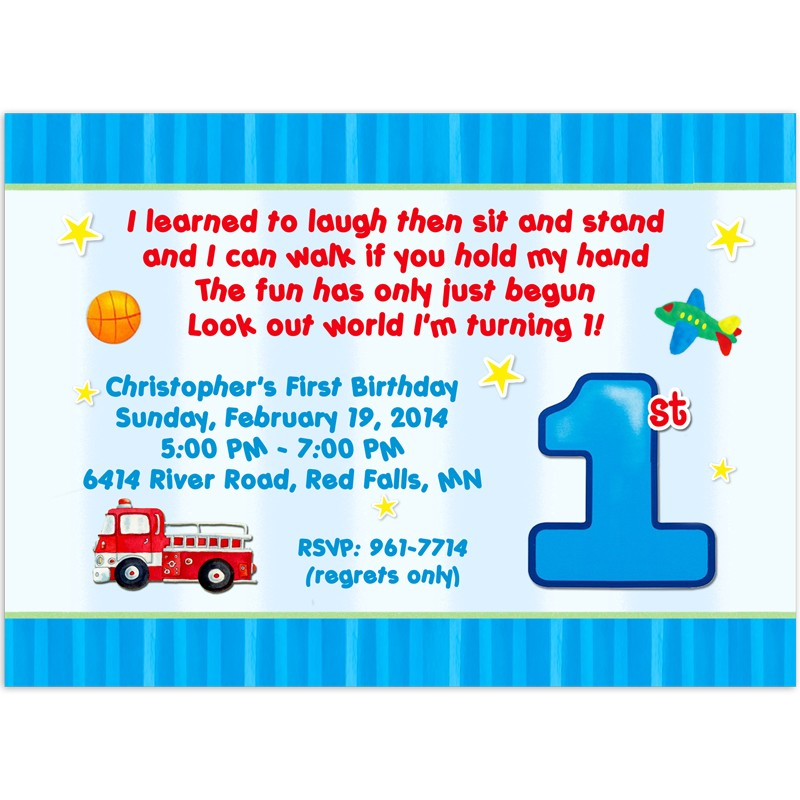 1st Birthday Invitations - Birthday Party Invitation - Printed Party