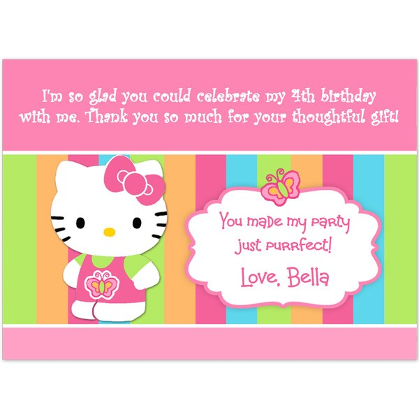 Hello Kitty Thank You Cards Birthday