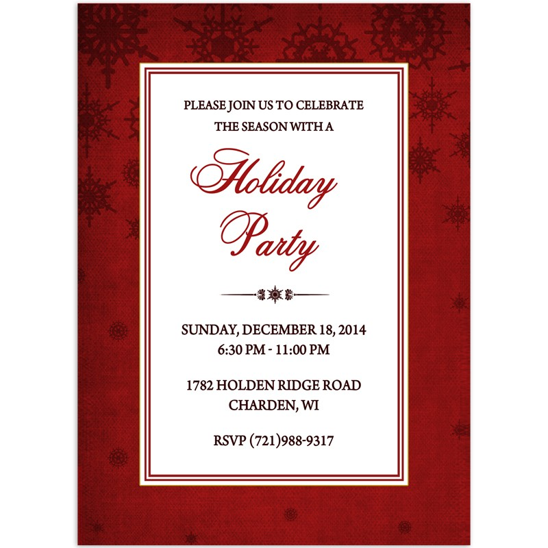 christmas party invitations formal design printed with envelopes