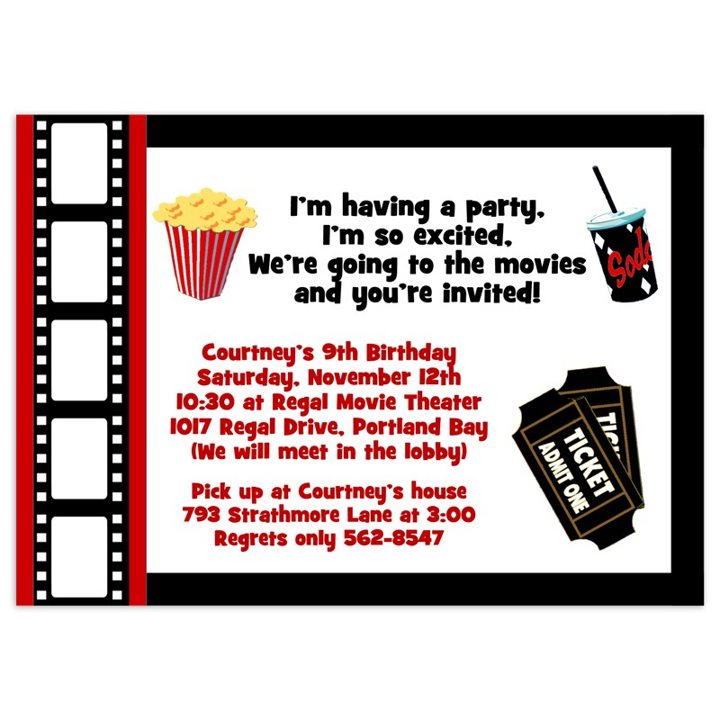 movie party invitations