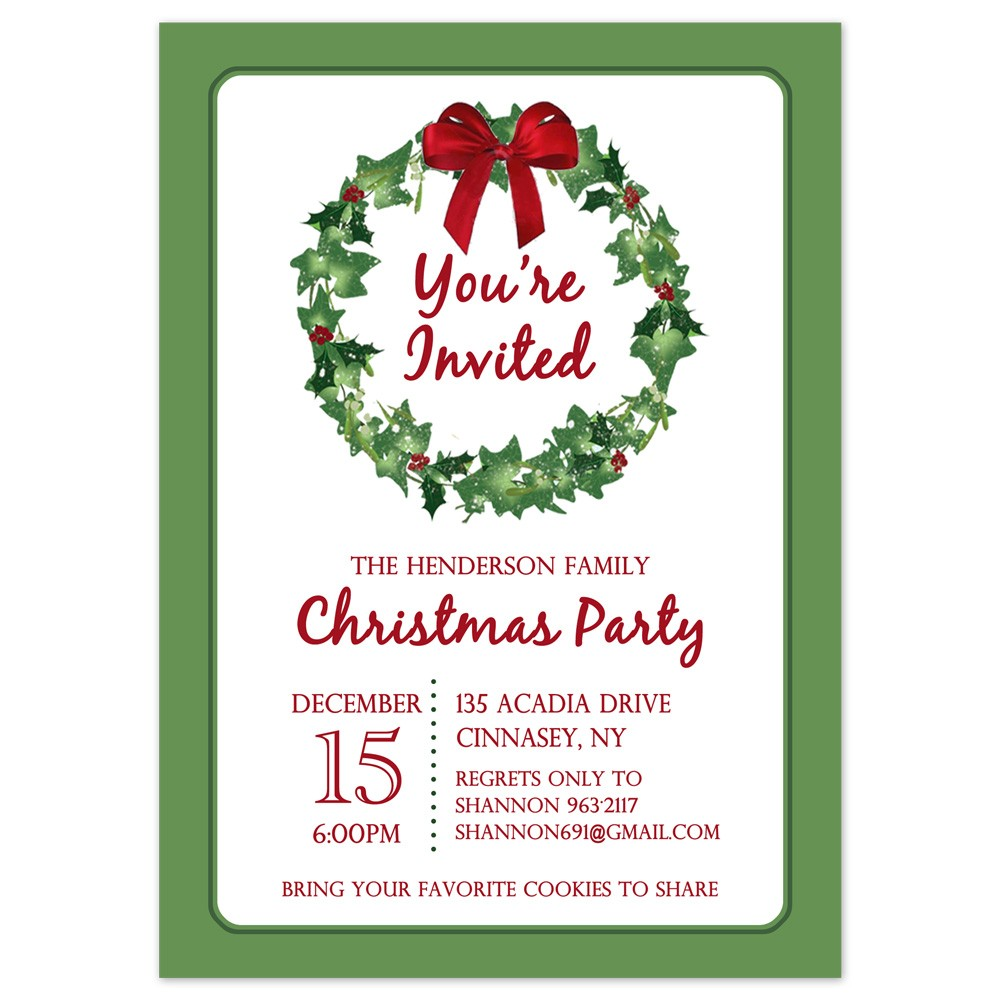 picture relating to Printable Holiday Invites named Printable Xmas Occasion Invitation Template Xmas