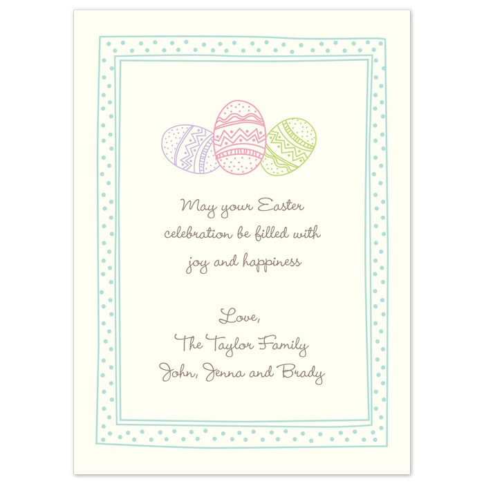 Printable Spring Easter Card Invitation Template