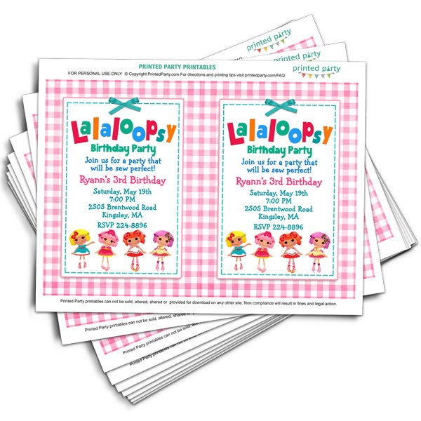 Printable lalaloopsy invitations invitation template printed party printable lalaloopsy invitations filmwisefo