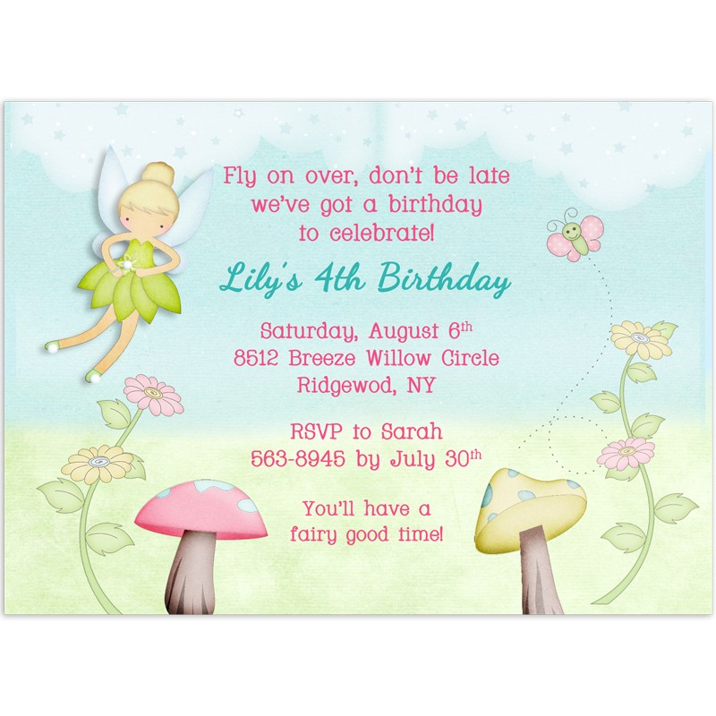 printable tinkerbell inspired fairy party invitations template .