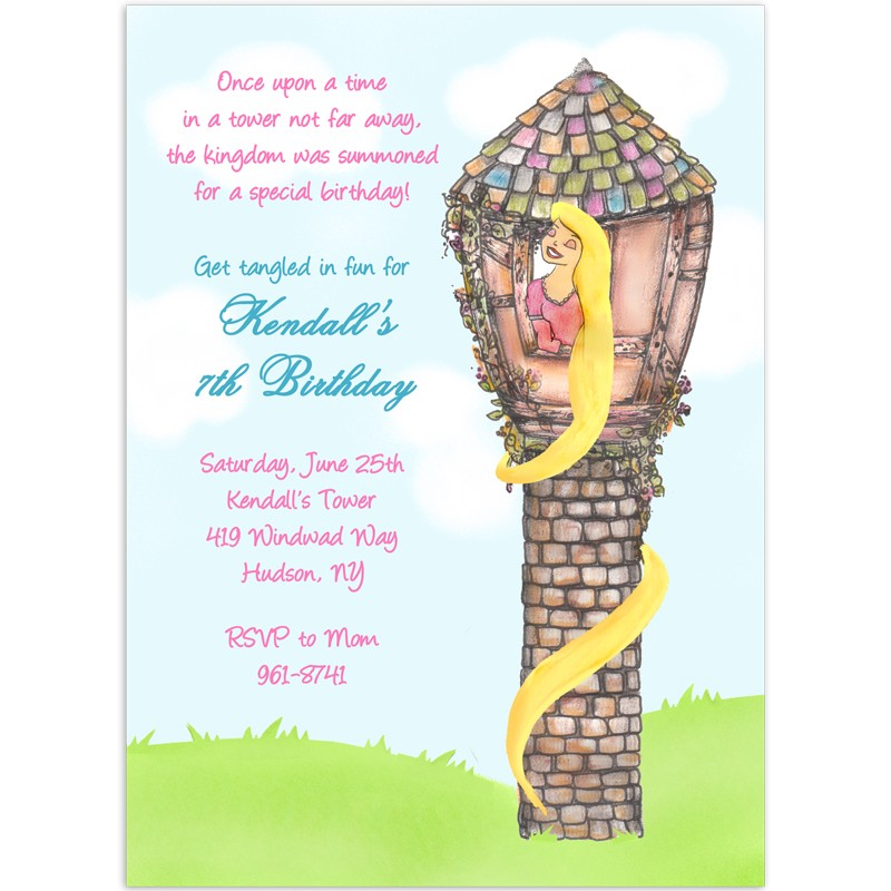 tangled rapunzel party invitations birthday invitation printed party