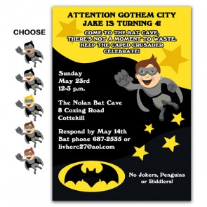 Batman-Party-Invitations