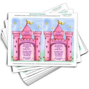 Printable Princess Castle Invitation Template