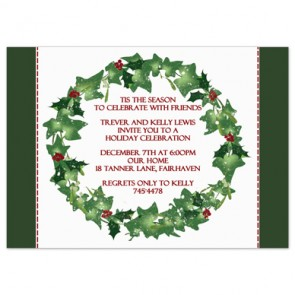 holiday-party-invitation-holly-wreath