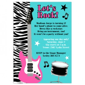 Printed invitations birthday karaoke party invitations stopboris Image collections
