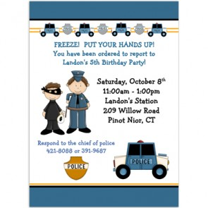 police-birthday-invitations