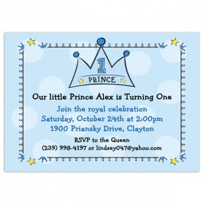 1st Birthday Printed Invitations Birthday